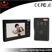 2.4Ghz 7'' TFT LCD Screen Wireless Video Door Phone with Touch Key