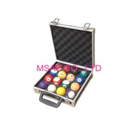 2mm EVA Plastic Handle Aluminum Snooker Ball Case 370*262*80mm for Display