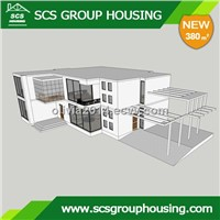 380m2 Mediterranean Prefabricated House of Steel Structure/Earthquake Resistance_SCS GROUPHOUSING