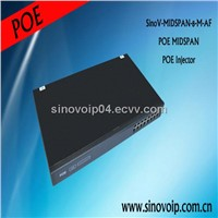 48V 8 port ethernet poe midspan 100Mbps for router,ip phones and ip camera