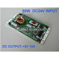 50W Bus LED Sign Power Supply,12~36VDC,5V10A50W