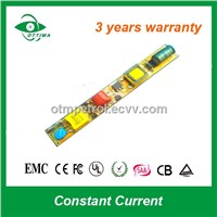 6-20W Constant Current T5 / T8 / T10 Non-Isolation LED Tube Driver CE/RoHS Certified