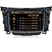 7'' 2 DIN TFT LCD Car dvd player with gps/BT/radio/3G for Hyundai I30