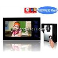 "7""TFT-LCD touch key wired color recordable video door phone intercom with 2G SD card HZ-806MA11DVR"