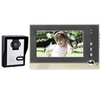 7'' Ultra-thin    Video Doorbell/  Wired Color video door phone with white LED light/DOORBELL