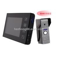"7"" wired doorbell color recordable video doorphone with 2G SD card HZ-806ME11DVR"