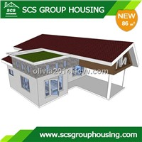 86m2 Modern House of Steel Structure/Earthquake Resistance_SCSGROUPHOUSING