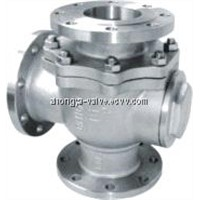 API Stainless Steel 3 Way Float Ball Valve (Q45F-150LB)