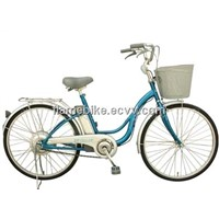 Aluminum Electric City Bicycle/Alloy Lady Electric Bike/Electric Women Bicycle