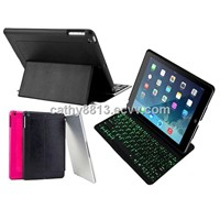 Automatic Bluetooth Keyboard case for iPad Air with 7 color backlight
