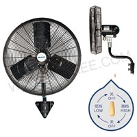 "18""/20""/24""/30"" CHIKEE Industrial Wall Mount Commercial Oscillating Air Circulator"