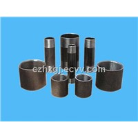 Carbon steel pipe nipples and sockets.