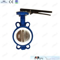 Cast iron butterfly valve with ductile iron disc