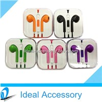 Colorful Earphone Headset Earpods With Volume Control&Mic Earbuds for iPhone//iPad/Mobiles etc