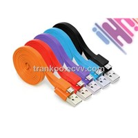 Colorful Micro USB Noodle Cable Mobile Phone Data Charger Cable