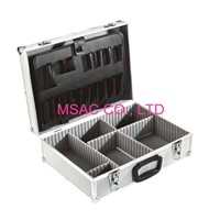 Custom Silver ABS Tool Cases , Tool Carrying Case With Plastic Handle