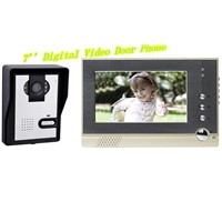 Digital  7''   LCD  Color Video Door  Phone/  Doorbell with white LED light