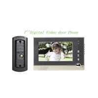 Digital  7''  LCD  Color Video Doorphone/  Wired Color video door phones with white LED light