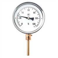 Digital bimetallic thermometer with thermocouple