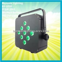 Disco Lighting 9*3W 3IN1 Battery&Wireless LED Par Light (BS-2030)