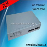 Each port 15.4W output metal case 8port poe switch