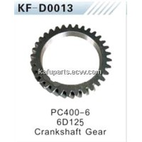 Engine parts for PC400-6 6D125 Excavator Crankshaft Gear