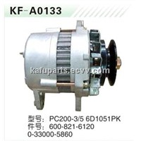 Excavator Alternator for Komatsu PC200-3/5 6D105 1PK 600-821-6120/0-33000-5860