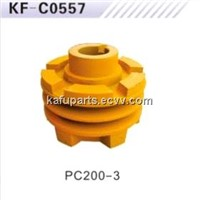 Excavator spare parts engine 6D105 crankshaft pulley PC200-3 crankshaft pulley