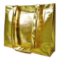Flashing and glossy non woven shopping bag
