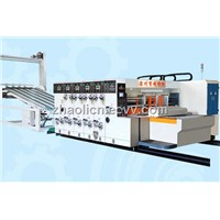 Fully automatic printing and slotting stacker machine