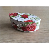Gift Box with Printed Flowers, 2-piece