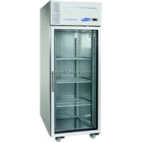 HB1SSCR Gastronorm Upright Single Glass Door Refrigerator