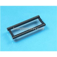 High density 1.778mm pitch open frame ic socket connecot with 32 42 64 pins