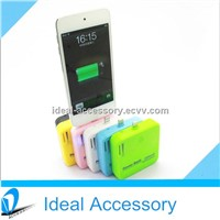 Hot Selling Portable Design External Battary Power Bank For iPhone5/5S/5C 6 Colors Available