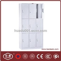 KD 9 door steel locker assembled