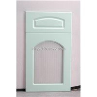 Kitchen cabinet door with glass design