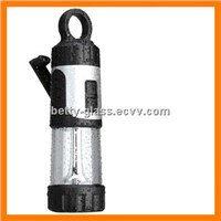 LED Flashlight / Cranking Camping Lantern with Carabiner