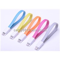 Magnetic Flat USB Cable For iPhone 5/5S/5C support ios7