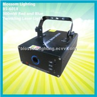 Multi Patterns 300mW Red and Blue Twinkling Laser Light (BS-6018)