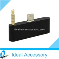 New 3.5mm 8Pin to 30Pin Audio Adapter for iPhone5/5S/5C/iPod Touch 5 With Sync & Charge Function
