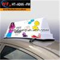 New design led taxi cab top advertising light box