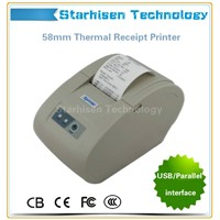New thermal printer POS58 printer 58mm POS receipt printer USB/Parallel interface Multiple Languages