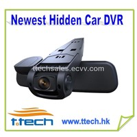 Newest hidden Car DVR camera,H.264,GPS Car DVR, 32GB SD Card supported