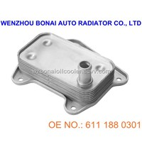 Oil Cooler for Mercedes Benz E Class, OE No.: 611 188 0301