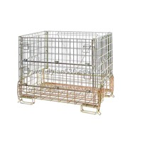 PET perform stackable storage steel wire mesh container