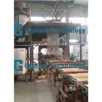 Paperless gypsum board plant