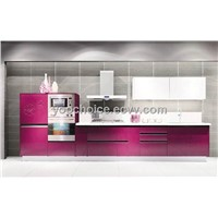 Purple Color Kitchen Cabinet,Modern Style Kitchen Cabinet,High Quality Kitchen Cabinet