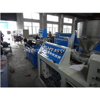 Plastic corrugated pipe extrusion line