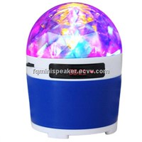 Portable Speaker with Colorful LED Stage Light+ FM Radio+ Micro SD card+ MP3 AUX