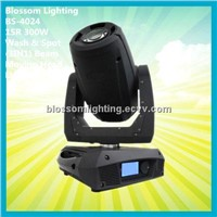 Powerful 15R 300W Wash & Spot (3IN1) Beam Moving Head Ligh (BS-4024)